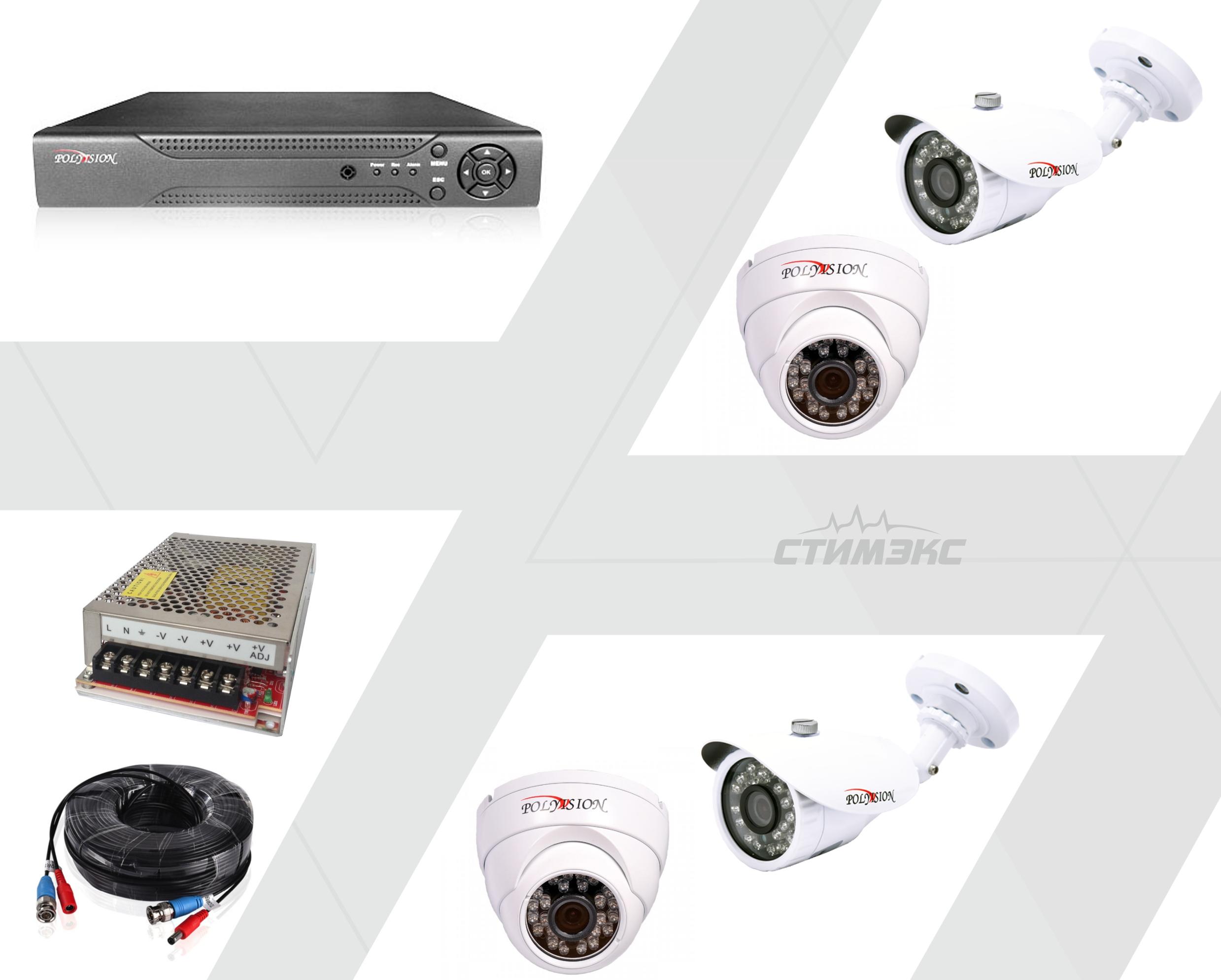 видео на 4 камеры